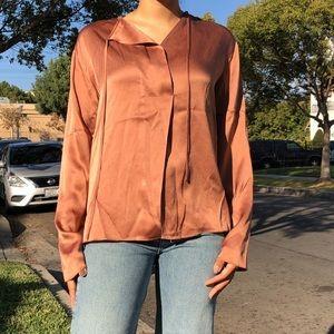 Vince rose bronze blouse